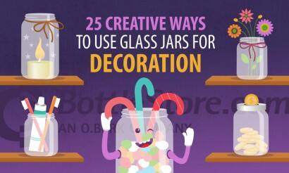 25 Creative Ways to Use Glass Jars For Decoration graphic (1)