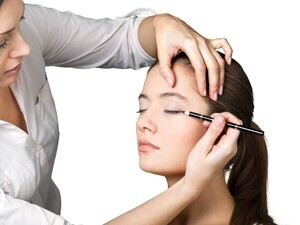 Professional putting on make-up