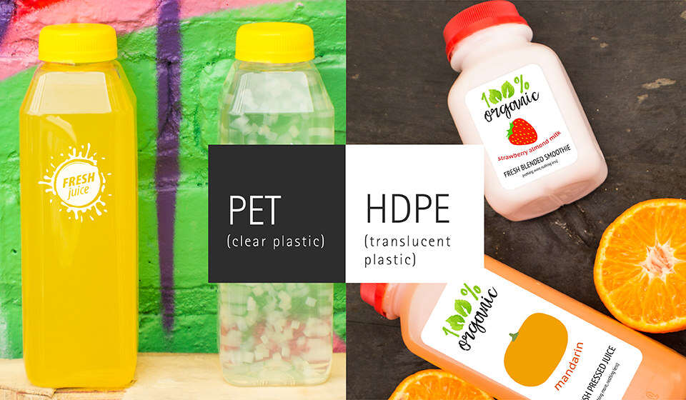 Jazz it up with PET and HPDE juice bottles