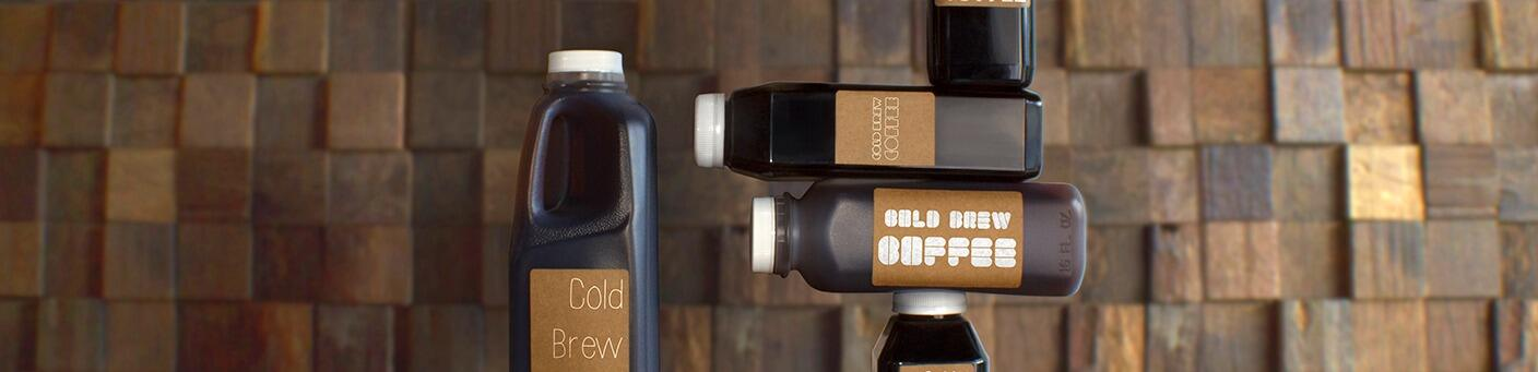 Square Bottles for Cold Brew Coffee