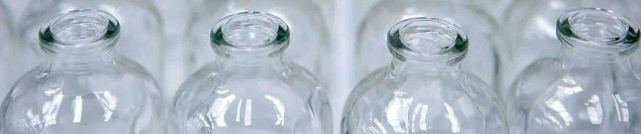 Glass Bottles - Clear - Round