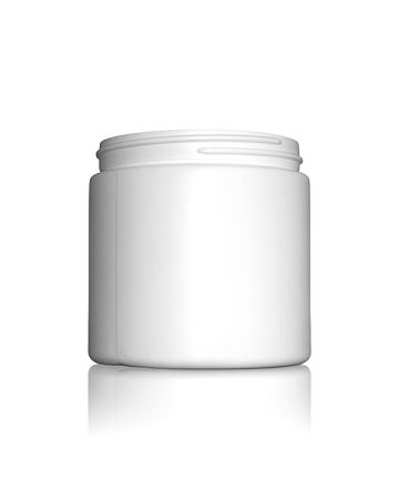 16oz (473ml) White HDPE Wide-Mouth Jar - 89-400 Neck