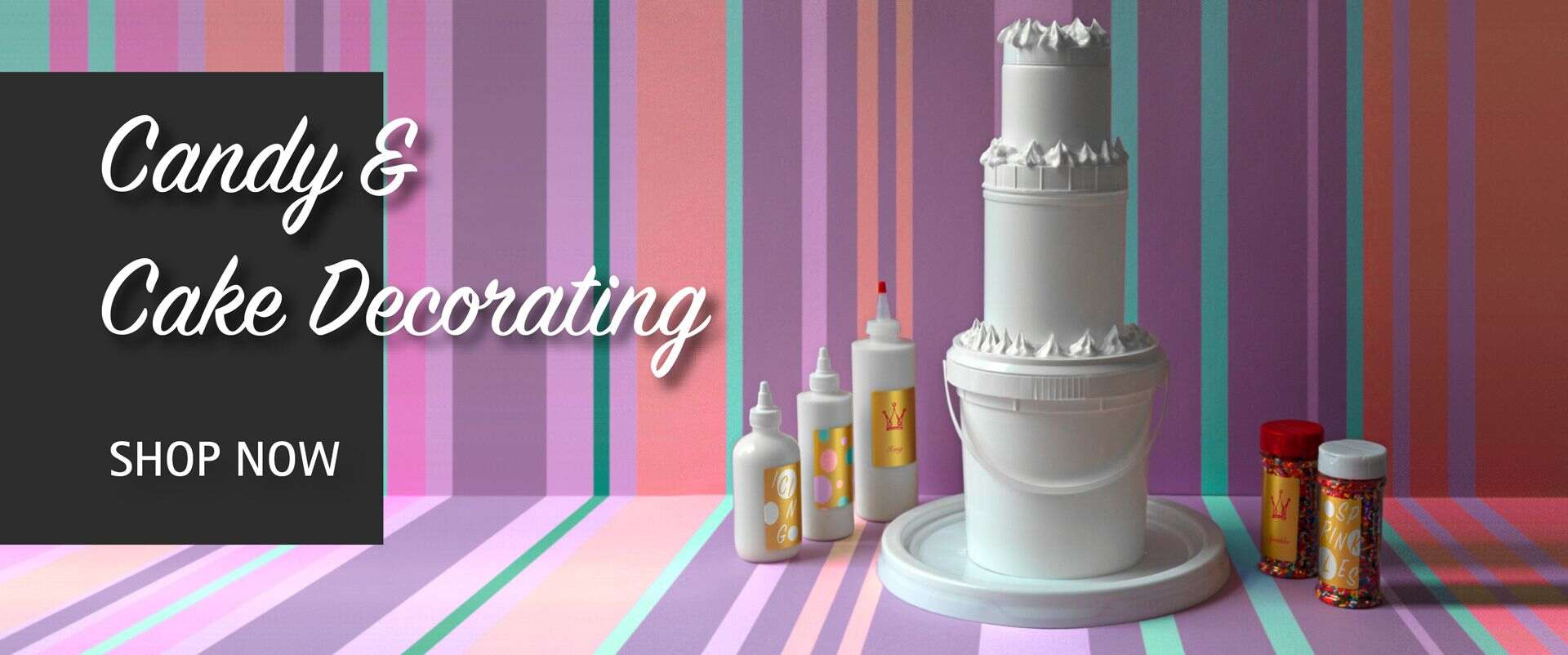 CANDY MAKING AND CAKE DECORATION BANNER